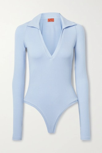 Monterey ribbed stretch-modal jersey thong bodysuit