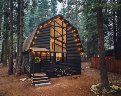 Stay in a hygge cabin from Airbnb just five minutes from Lake Tahoe.