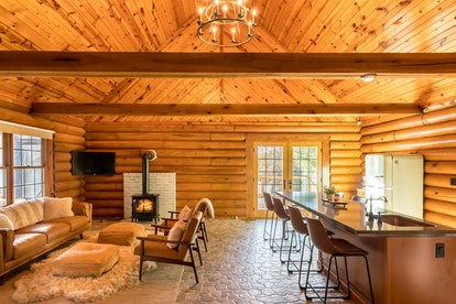 This log cabin on Airbnb will make you feel like you're glamping.