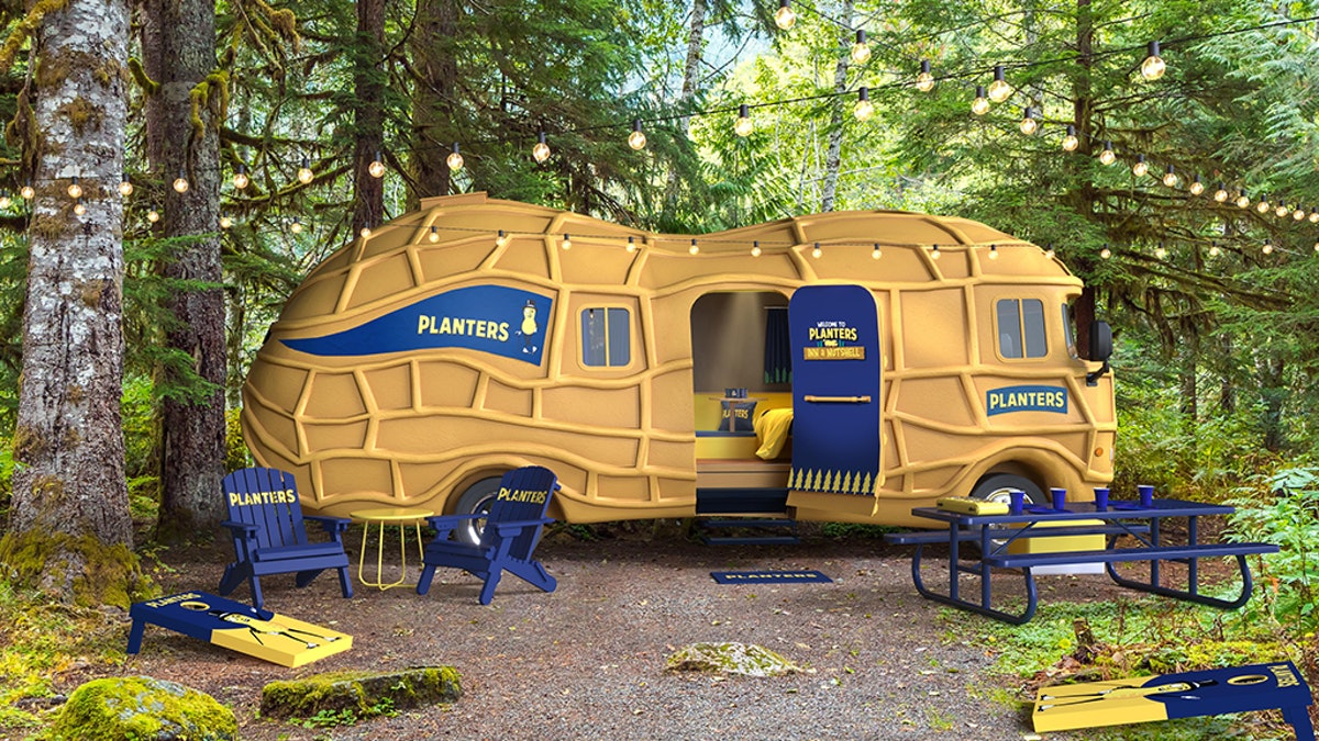 The Planters' Inn a Nutshell experience allows you to sleep in a giant peanut-shaped camper this fal...