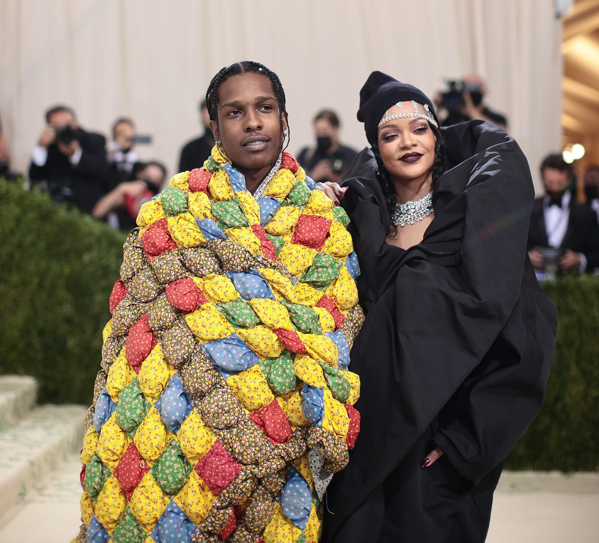 A$AP Rocky and Rihanna at Met Gala