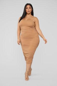 Feeling My Mesh Dress - Nude