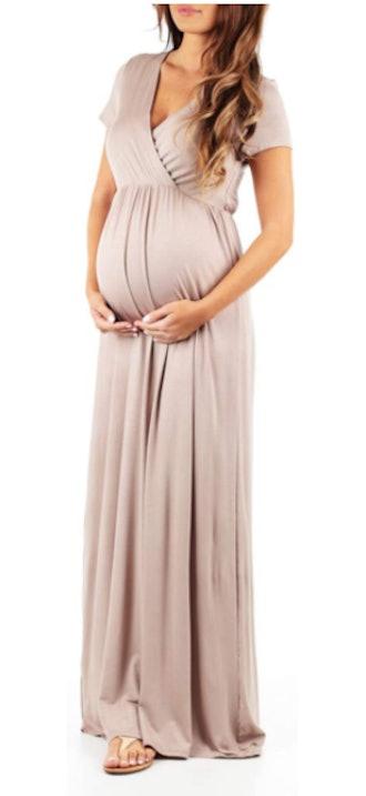Mother Bee Maternity Women's Maternity Short Sleeve Dress