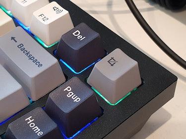 Close-up of keyboard key