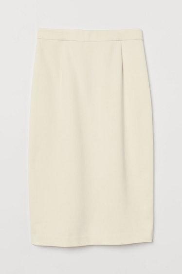 Knee-Length Pencil Skirt  H&M