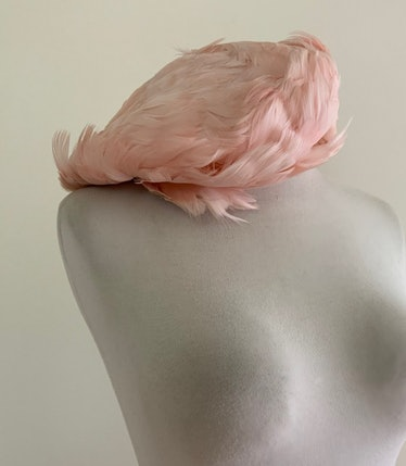 Alma's 1950s feather hat from The Queen's Gambit