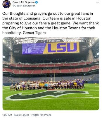 Coach Ed Orgeron's message to Louisiana.