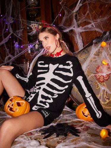 Skeleton Pattern Sweater