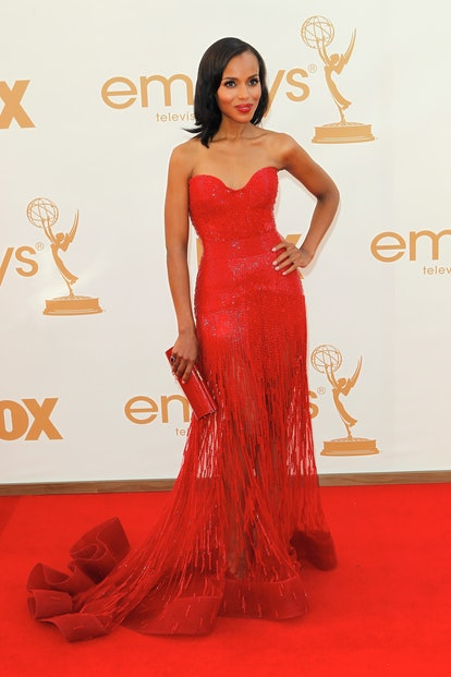 Kerry Washington attends the 63rd Annual Primetime Emmy Awards held at Nokia Theatre L.A. LIVE on S...