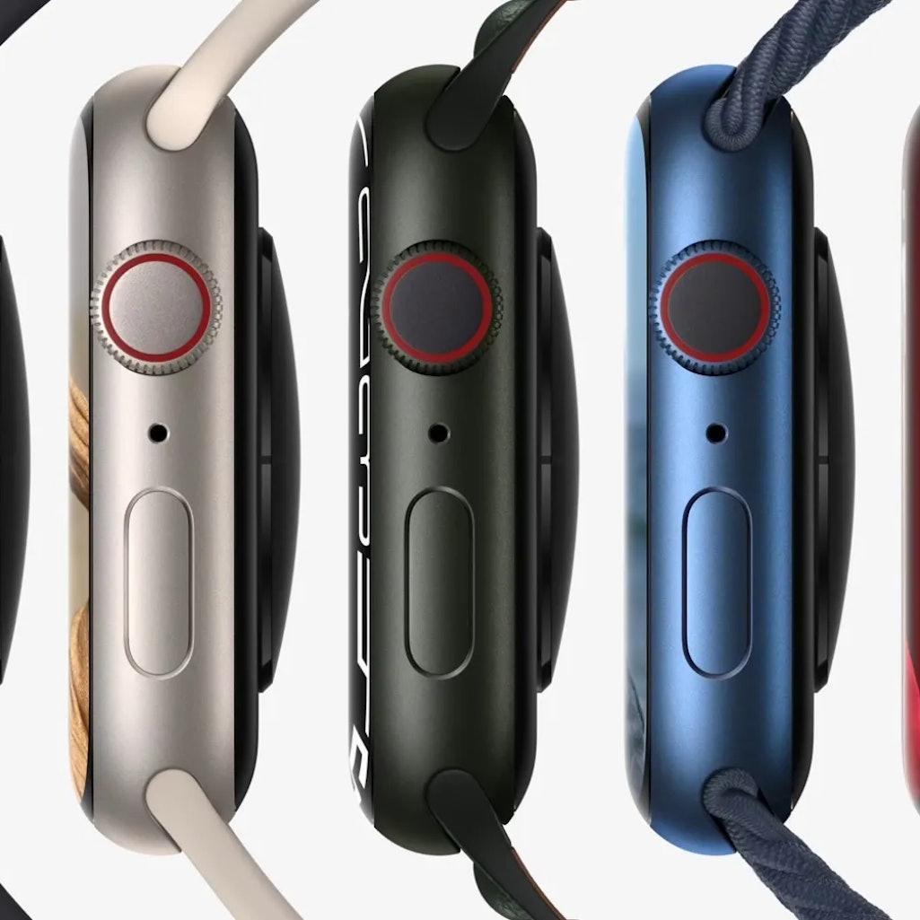 Apple Watch 7 series five colors.