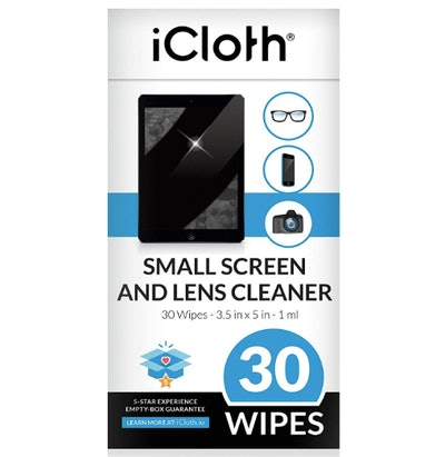 iCloth Lens Cleaning Wipes (30-Pack)