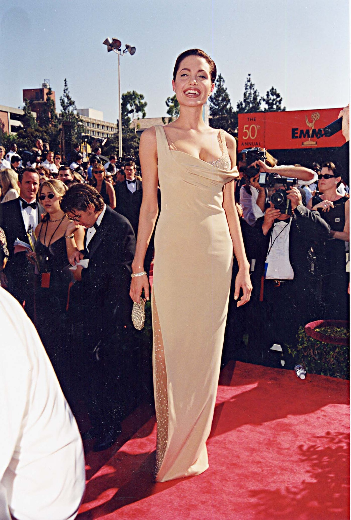 Angelina Jolie at the 1998 Emmy Awards in Los Angeles.