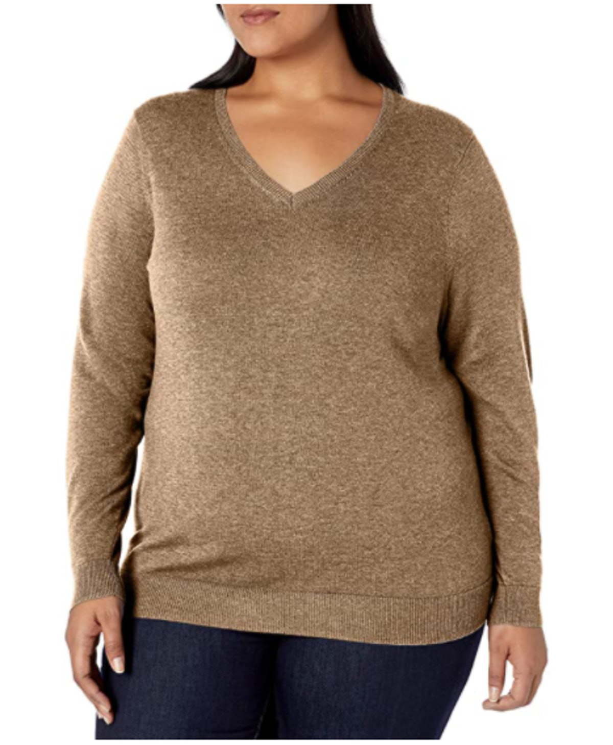 Amazon Essentials Plus Size V-Neck Sweater