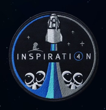 SpaceX's Inspiration4 badge.