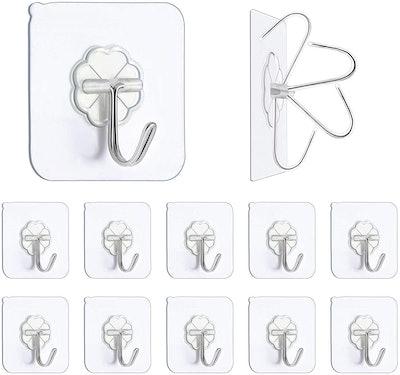 N/Q Adhesive Wall Hooks (10 Pack)
