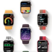 Apple Watch Series 7 flat lay image.