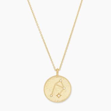 Astrology Coin Necklace (Libra)