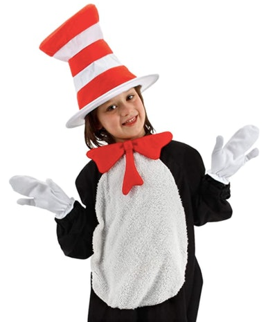 Child wearing Cat in the Hat costume