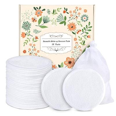 ProCIV Reusable Makeup Remover Cotton Pads (18-Pack)