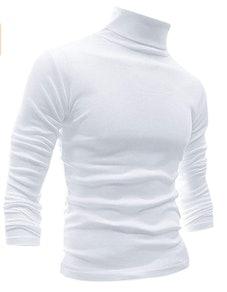 Men Slim Fit Lightweight Turtleneck T-Shirt