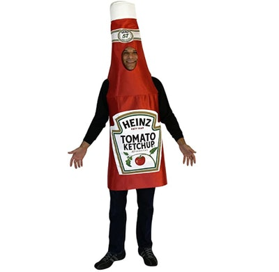 Man in a ketchup costume