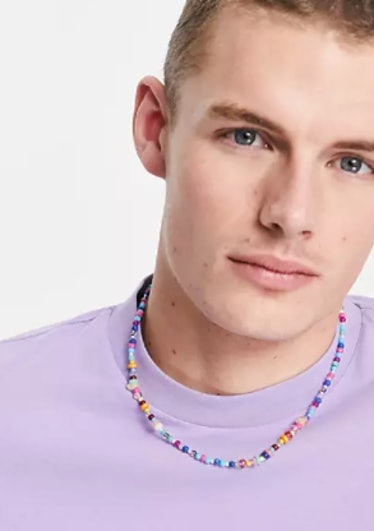 ASOS necklace with multicolor beads