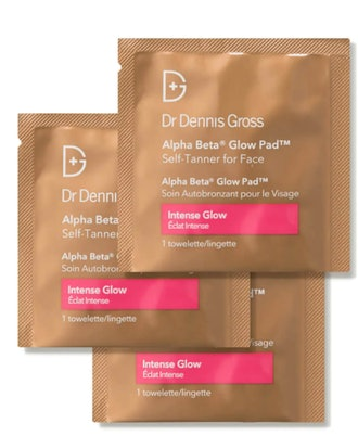 Dr Dennis Gross Alpha Beta Glow Pad Self Tanner for Face - Intense Glow