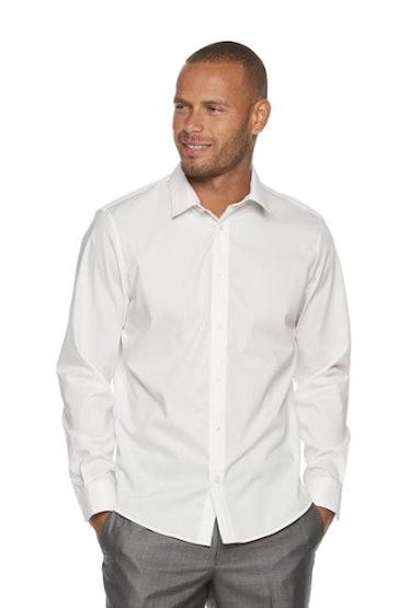 A regular-fit men's button-down shirt from Khol's