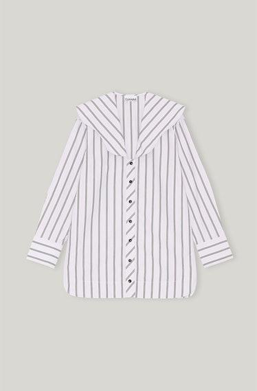 Organic Cotton Collared V-Neck Shirt