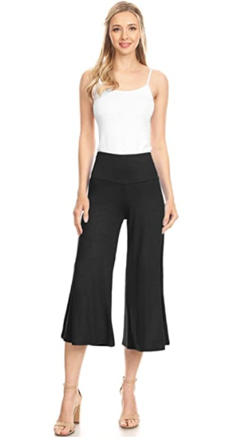 Made By Johnny High Elastic Waistband Palazzo Culotte Pants