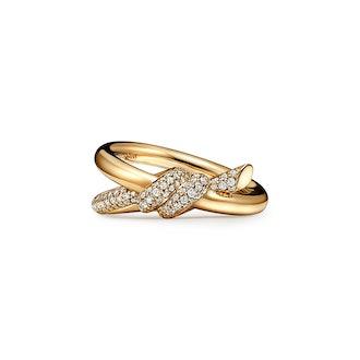Tiffany Knot Double Row Ring