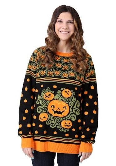 Adult Pumpkin Patch Halloween Sweater