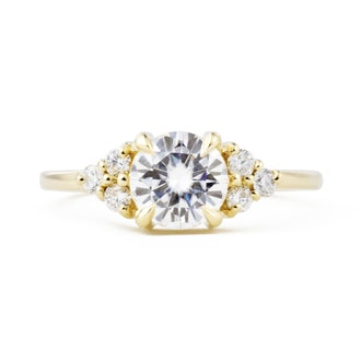 Bella Round Moissanite Engagement Ring from Valerie Madison fine jewelry.