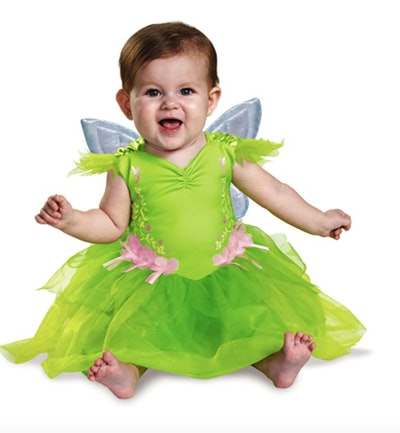 Baby wearing a Tinkerbell costume