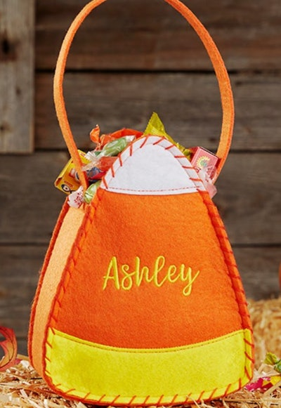 Candy Corn Embroidered Halloween Trick or Treat Bag
