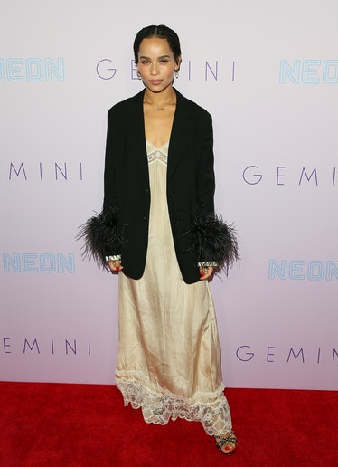 Zoe Kravitz on red carpet.