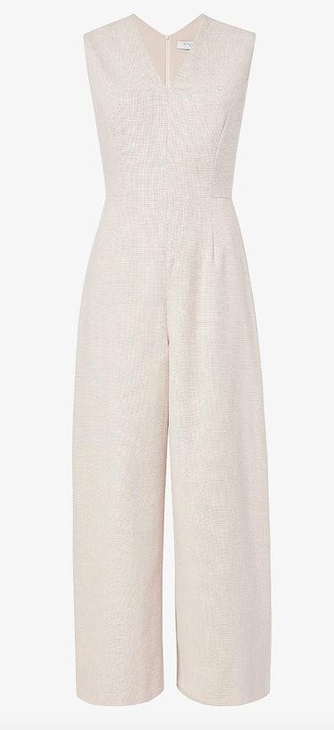 M.M.La Fleur's dove white jumpsuit.