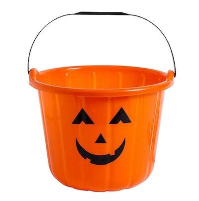 Orange Jack-o'-Lantern Treat Bucket