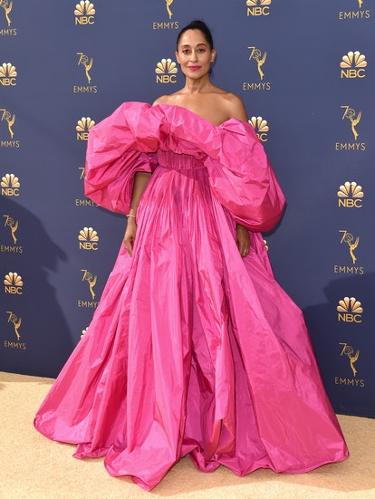 Tracee Ellis Ross attends the 70th Emmy Awards at Microsoft Theater on September 17, 2018 in Los Ang...