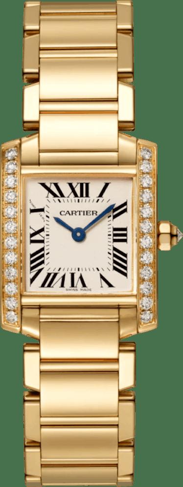 Cartier's gold tank Francaise watch.