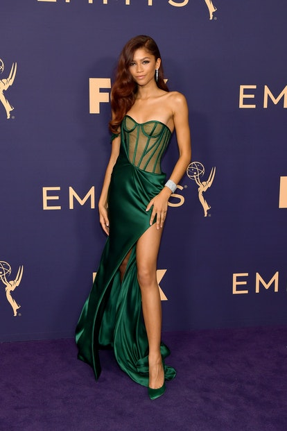 Zendaya attends the 71st Emmy Awards at Microsoft Theater on September 22, 2019 in Los Angeles, Cali...