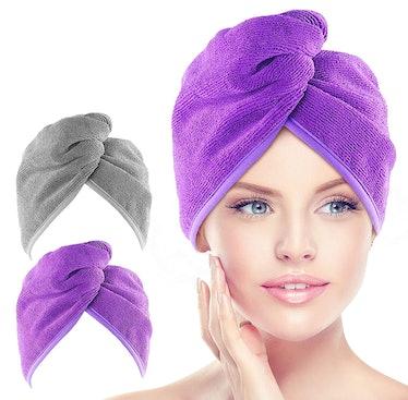 AIDEA Microfiber Hair Towel Wrap
