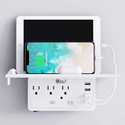 ON2NO Outlet Extender with Shelf