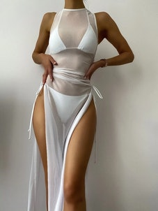 Sheer Mesh Cover Up