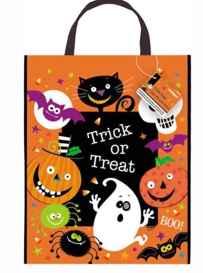 Large Plastic Trick or Treat Halloween Goodie Bag