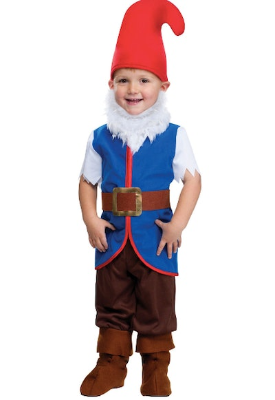 Little toddler dressed as a gnome
