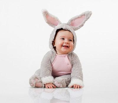 Baby wearing bunny costume