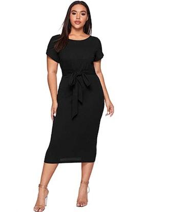 SheIn Plus Size Short Sleeve Pencil Dress