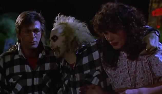 Beetlejuice stars Michael Keaton, Alec Baldwin, and Geena Davis.