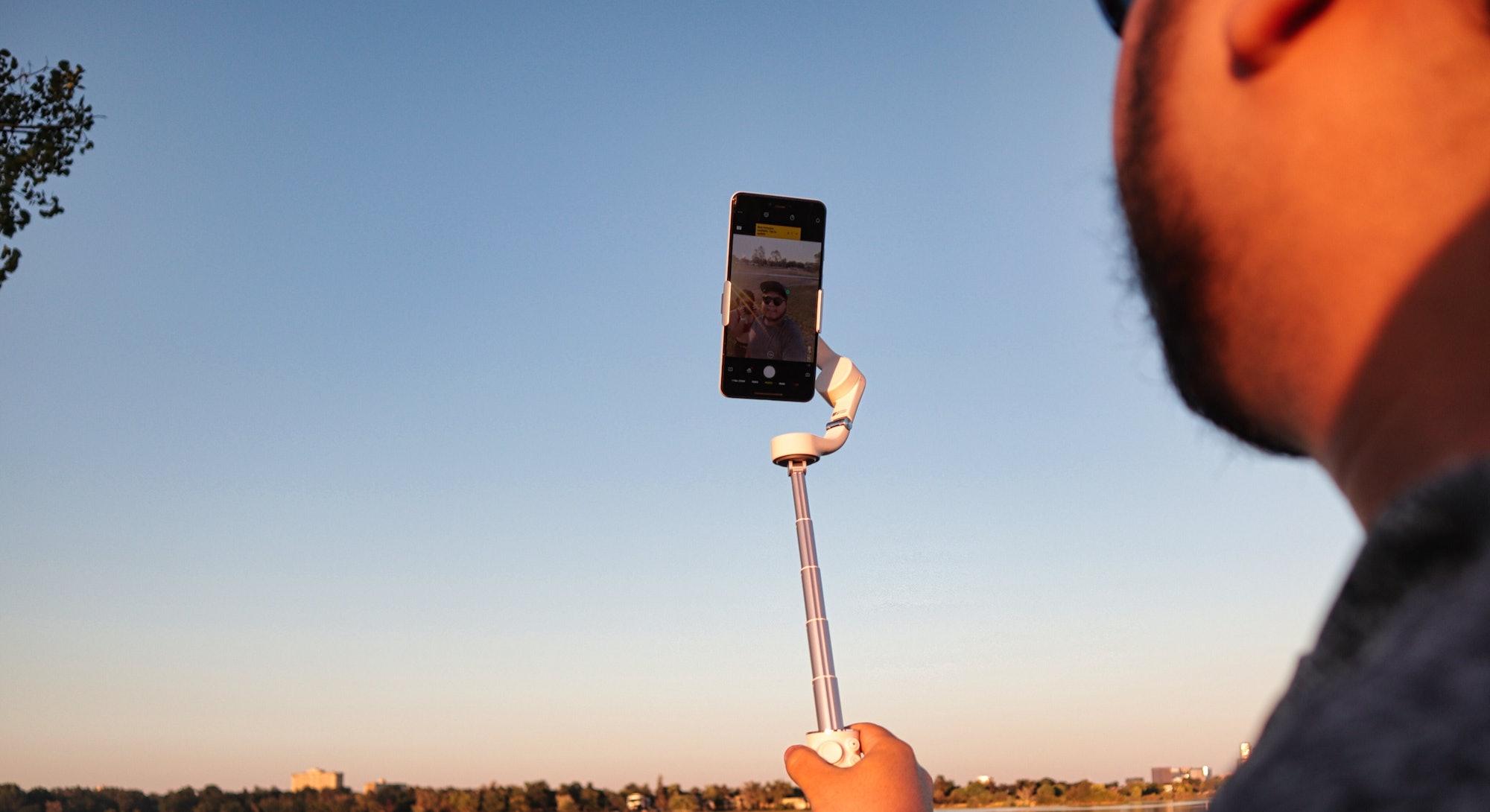 Selfie stick on Osmo Mobile 5
